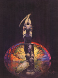 Brain (cover art for Eerie 8 and Eerie 84) Posters by Frank Frazetta