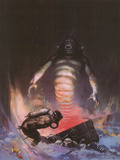 Sea Monster (cover art for Eerie 3 and Creepy 97) Prints by Frank Frazetta