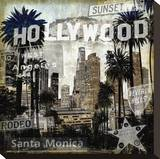 Landmarks L.A. Stretched Canvas Print by Dylan Matthews