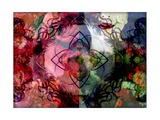 Portrait With Rose And Mandala Photographic Print by Alaya Gadeh