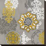 Decorative Ornaments In Gold I Stretched Canvas Print by Ellie Roberts