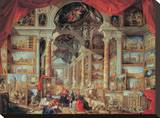 Views of Modern Rome, 18th Century Stretched Canvas Print by Giovanni Paolo Pannini
