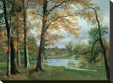 A Quiet Pond Stretched Canvas Print by Albert Bierstadt