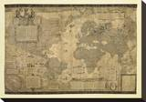 Map of the World Stretched Canvas Print by Gerardus Mercator