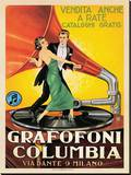 Grammophone Columbia, 1920 Leinwand