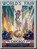Foire internationale de Chicago, 1933 Reproduction transférée sur toile par Glen C. Sheffer