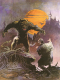 Werewolf vs. Dracula Prints by Frank Frazetta