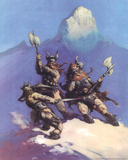 Snow Giants (cover art for Conan of Cimmeria) Prints by Frank Frazetta