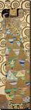 Förväntan, detalj av Stoclet-frisen, ca 1909 Sträckt Canvastryck av Gustav Klimt
