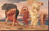 Charlot à la plage Reproduction sur toile tendue par Frederick Leighton