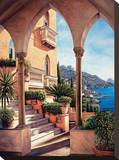 Palazzo on Amalfi Stretched Canvas Print by Elizabeth Wright