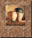 Vases et olives Reproduction sur toile tendue par Andres Gonzales
