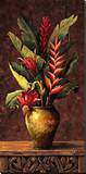 Tropical Arrangement I Stretched Canvas Print by Eduardo Moreau