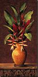 Tropical Arrangement II Stretched Canvas Print by Eduardo Moreau