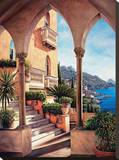 Palazzo on Amalfi Reproduction sur toile tendue par Elizabeth Wright