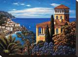 The Amalfi Coast Stretched Canvas Print by Elizabeth Wright