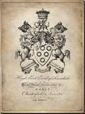Heraldry III Stretched Canvas Print by Oliver Jeffries