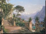 Lodge on Lake Como Leinwand von Carl Frederic Aagaard