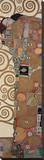 Fulfillment, Stoclet Frieze, c.1909 (detail) Impressão em tela esticada por Gustav Klimt