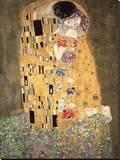 Gustav Klimt - Polibek, c.1907 Reprodukce na plátně
