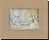 Femme Dormant Stretched Canvas Print by Dan Bennion