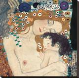 Mother and Child (detail from The Three Ages of Woman), c.1905 Stretched Canvas Print by Gustav Klimt