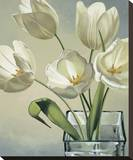 Tulipani in Vaso Stretched Canvas Print by Eva Barberini