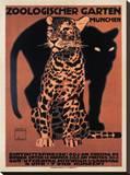 Zoologischer Garten, 1912 Trykk på strukket lerret