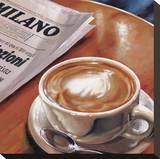 Cappuccino al Bar Reproduction sur toile tendue par Federico Landi