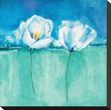 Fleurs d'Azur II Stretched Canvas Print by Isabelle Herbert