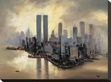 Reflections of Manhattan Stretched Canvas Print by Alexander Moore