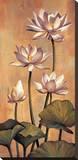 White Lotus Stretched Canvas Print by Jill Deveraux