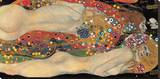 Vannslanger II, ca. 1907|Water Serpents II, c.1907 Trykk på strukket lerret av Gustav Klimt