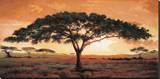 Minnen från Masai Mara Sträckt Canvastryck av  Madou