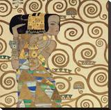 Expectation, Stoclet Frieze, c.1909 (detail) Stretched Canvas Print by Gustav Klimt