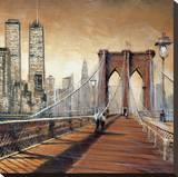 Manhattan Sunset II Stretched Canvas Print by Matthew Daniels
