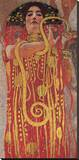 Hygieia (detail from Medicine) Stretched Canvas Print by Gustav Klimt