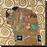 Fulfillment, Stoclet Frieze, c.1909 (detail) Sträckt Canvastryck av Gustav Klimt