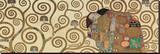 L'Accomplissement, frise dans l'hôtel Stoclet|Fulfillment, Stoclet Frieze, vers 1909 (détail) Reproduction transférée sur toile par Gustav Klimt