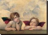 Detail of the Sistine Madonna, c.1514 Stretched Canvas Print by  Raphael