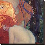 Goldfish (detail) Stretched Canvas Print by Gustav Klimt