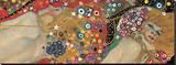 Vattenormar II, ca 1907 (detalj) Sträckt Canvastryck av Gustav Klimt