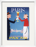 Pan Am - Paris Framed Giclee Print