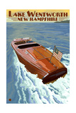 Lake Wentworth, New Hampshire - Wooden Boat Posters by  Lantern Press