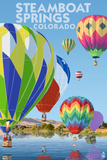 Steamboat Springs, Colorado - Hot Air Balloons Posters by  Lantern Press
