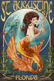 St. Augustine, Florida - Mermaid Posters by  Lantern Press