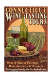 Connecticut - Wine Tours Vintage Sign Prints by  Lantern Press