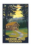 Nederland, Colorado - Cabin Scene Posters by  Lantern Press