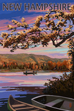 New Hampshire - Lake at Dusk Print by  Lantern Press