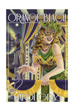 Orange Beach, Alabama - Mardi Gras Girl Art by  Lantern Press